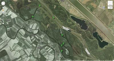 Szigetközi vízitúra, 1. nap térképe